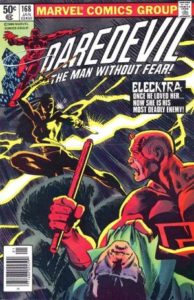 Daredevil Vol. 1 - 0168 - Elektra's first appearance in the title.