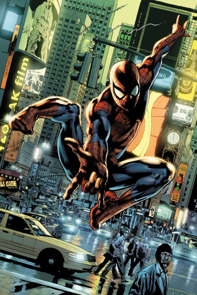 Amazing Spider Man #546 variant by Bryan Hitch